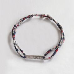 love love love, in sterling silver and Liberty lace. Handmade in France. www.ticha.bigcartel.com