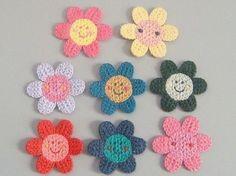 8 Crochet Flower Appliques Smiley FaceSunflower8 by twpmango, $3.95