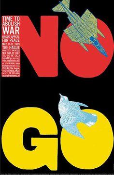 No Go, Abolish War, a Push Pin Studio poster by Milton Glaser, 1999 Milton Glaser, Mundo Design, Anti Smoking Poster, Seymour Chwast, Pop Art, New York Logo, Plakat Design, London Design Festival, Its Nice That