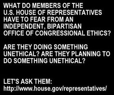 On Jan 2nd 2017 in a closed door meeting republican congressman voted to render the Office of Congressional Ethics powerless.