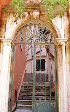 door.. Corfu Island (Ionian), Greece
