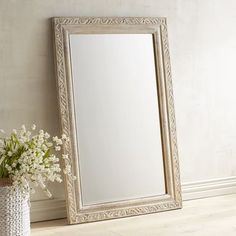 When we first saw our Sabita mirror, we knew it was a special find. Why? Its whitewashed mango wood design has the perfect blend of detail and dimension to work with so many decor styles. Whether yours is a traditional or more open floor plan, and your preferred look is refined rustic, industrial chic, coastal cool, vintage eclectic or anything else, this mirror makes the room.