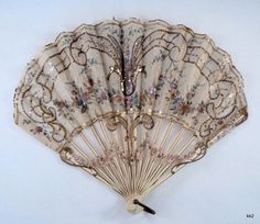 Victorian Hand Fans | Antique Ornate Victorian Hand Fan #silkhandfans