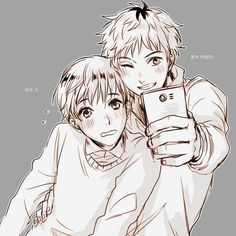 Kaneki is his bae, but first, let him take a selfie.(?) OC