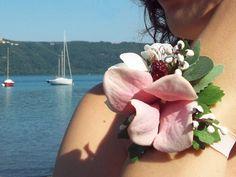 Wedding Accessories – 'Blackberry Dream' - Vintage Flower Bracelet – a unique product by FOLKflor on DaWanda