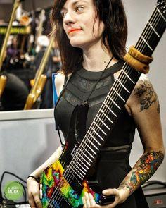 Meanwhile over on @shreddelicious Sarah Longfield with her custom Strandberg guitar.