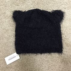Beanie Super soft animal ears black beanie, brand new with tags never used. Great for fall winter wear or as a stocking stuffer & gift!  Aeropostale Accessories Hats