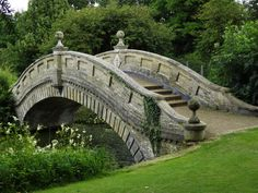 """Wrest Park's Chinese Bridge     The gardens, originally laid out by Henry, Duke of Kent, were altered by Philip, Earl of Hardwicke and Jemima, Marchioness Grey with the professional assistance of Lancelot """"Capability"""" Brown"""