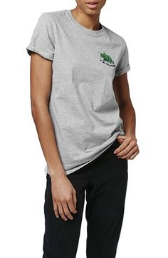 Topshop by Tee & Cake 'I'm Vintage' Dino Embroidered Tee