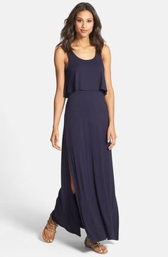 Betsy Johnson maxi dress. My first pick was too short on me, so I ordered this in gray. :)