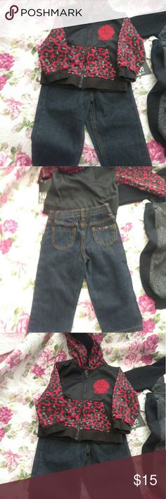 Encye 18 months 2 piece set jacket and jeans Nwt  18 month Jacket hoodie  Jeans Encye Sean Combs encye Matching Sets