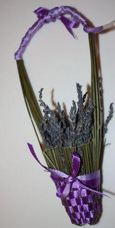 Fragrant French Lavender basket by Julepool on Etsy, $30.00: