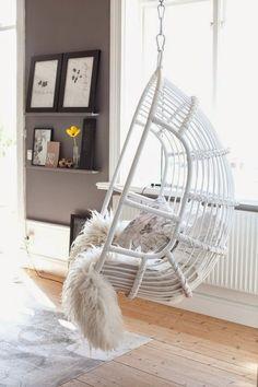 Indoor Hanging Chair for Bedroom. Indoor Hanging Chair for Bedroom. Indoor Swing Chair for Bedroom Swing Chair For Bedroom, Swinging Chair, Hammock Chair, Swing Chairs, Bedroom Hammock, Chair Cushions, Rocking Chair, Swing Indoor, Porch Swing