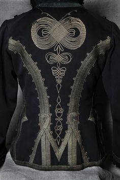 Back detail from English 11th Hussar's Lieutenants tunic, tailored by Stohwasser & Co.