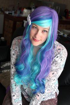 30 % OFF Amazing long multicolor wig  High by KawaiiAsHellx