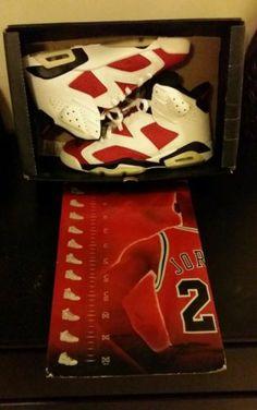 reputable site 06d22 59e19 Air Jordan Retro 6 Carmine Size 10 Gamma 11 Blue Yeezy Foamposites   eBay