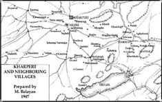 Map or Armenian villages in Harput Armenian Recipes, Armenian Military, Armenian Culture, Family Genealogy, Ottoman Empire, Genetics, Military History, Geography, Maps