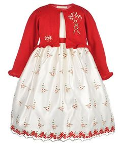"American Princess Big Girls' ""Rosette Bunches"" Dress with..."