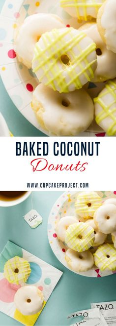 Want some easy donuts recipes? This Baked Coconut Donuts with Zen Glaze are baked (not fried) so they are much easier to make than regular donuts. I use coconut milk and coconut oil in the recipe to give them a rich coconut flavor. More easy and from scra Easy Donut Recipe, Donut Recipes, Best Dessert Recipes, Fun Desserts, Sweet Recipes, Baking Recipes, Breakfast Recipes, Baked Donuts, Doughnuts