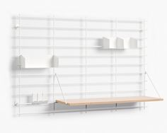 Loopholes Wall White Shelves by ATELIER BELGE made in Belgium on CROWDYHOUSE