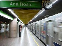 Estação de Metrô Ana Rosa - Linha 1 Azul e Linha 2 Verde no Bairro Vila Mariana - São Paulo