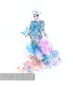 David Bowie - Ashes to Ashes - Blue Pierrot Watercolor - Starman Blackstar Clown Ziggy Stardust Thin White Duke Noctis And Luna, Star David, Ziggy Stardust, Black And White Portraits, Watercolor Print, David Bowie, Pop Group, Bigbang, Duke