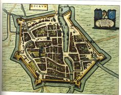 Map of the town of Dokkum, the Netherlands 1698 (1656×1311)
