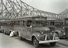 Calcutta bus stand near Howrah bridge, most likely on the Howrah station side of the Hooghly River 1944