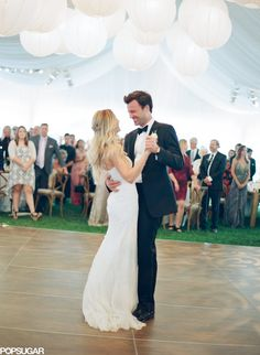"""The Paper Crown designer, who walked down the aisle to The Beatles' """"In My Life,"""" had her first dance with William Tell to Once's version of """"You're My Best Friend.""""   Lauren Conrad's Wedding Pictures 2014   POPSUGAR Celebrity"""