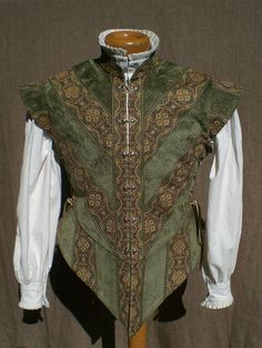 """Beautiful work — there are a number of very fetching jerkins and complete men's outfits here, by """"Robear in Ojai"""" Chenille Tapestry Jerkin 