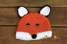 Crochet Fox Beanie  Made to Order  Many by VIPHandmadeCreations, $18.00