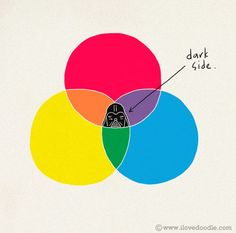 the dark side : it's a nerd day Dark Side, The Darkest, Illustration Art, Nerd, Palette, Star Wars, Colours, Graphic Design, Cool Stuff