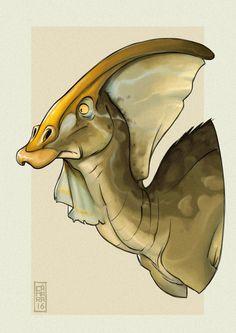Draw Dinosaurs Parasaurolophus by CamaraSketch on DeviantArt - Dinosaur Drawing, Dinosaur Art, Cartoon Drawings, Animal Drawings, Jurassic Park, Disney Dinosaur, Dinosaur Tattoos, Art Articles, Unique Drawings