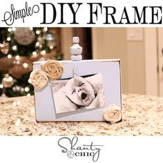 Simple & Cheap Photo Clip Frame at Shanty-2-Chic.com // Perfect #gift idea for #Christmas !!