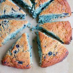 Gluten free wild blue berry scones // @HealthyAperture