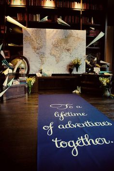 quote for a travel-themed wedding for a couple suffering from an incurable case of wanderlust @myweddingdotcom