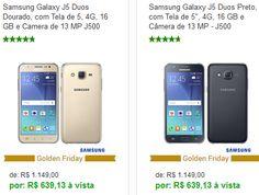 Samsung Galaxy J5 Duos Tela de 5 4G 16 GB e Camera de 13 MP << R$ 63913 >>
