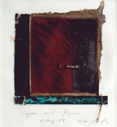 D-5.Aug.1988 copper and paper/ collage 林孝彦 HAYASHI Takahiko
