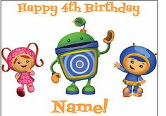 Team Umizoomi Edible Cake Image Decoration Topper Custom Birthday Party Favor | eBay