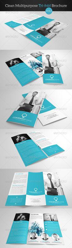 Clean Multipurpose Trifold Brochure Vol 2 - Corporate Brochures