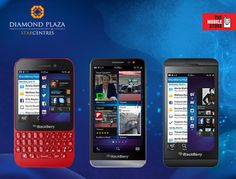Get yourself a classy Blackberry phone from #TheMobileStore with great deals!  Come and check it out at Diamond Plaza