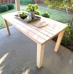 rustic farmhouse style table using only 2 x diy, painted furniture, rustic furniture, woodworking projects