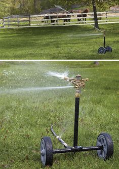 Sprinkler Head with 5 Nozzles Strongway Wheeled Sprinkler 1 1//4in Rubber Tires 8in