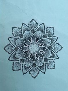 mandala flower tattoo