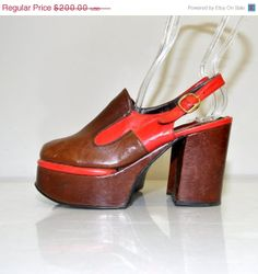 SALE Size 7.5 Vintage 70s Leather Tall by RetroThreadzVintage, $100.00