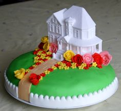 3D printed sugar house cake topping