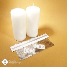 Verzierwachs zum Verzieren von Kerzen und Festtagskerzen Pillar Candles, Madness, Wax, Silver, Middle, Candles