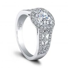The Halle Engagement Ring #WeddingRings #EngagementRings #DiamondRings #JeffCooper