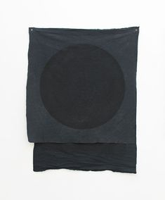 Oliver Perkins - The Grey Area, 2010: Black Flag, 2009. Acrylic on hand dyed cotton