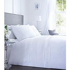 Debenhams - White pleat 'Malone' bedding set